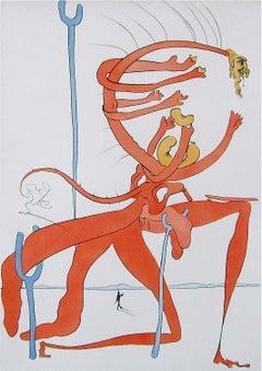 Figure Rouge avec Portrait de Quevedo