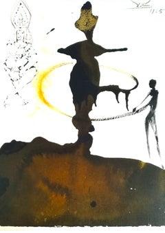 Filiae Herodiadis Saltatio - Original Lithograph by S. Dalì - 1965