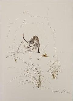 Frère Ogrin, l'Ermite - Original Etching by S. Dalì - 1969