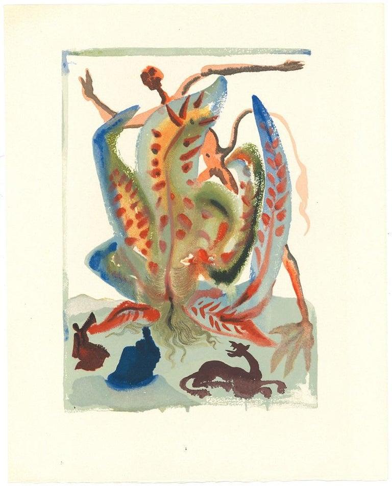 Salvador Dalí Figurative Print - Greed