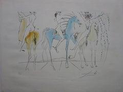 Hamadryades Mimétiques Arborescentes - Original handsigned etching - 1971