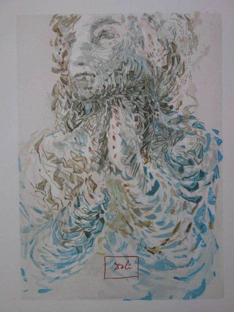 Heaven 17 : Divine Fore Knowledge - Woodcut - 1963 - Surrealist Print by Salvador Dalí