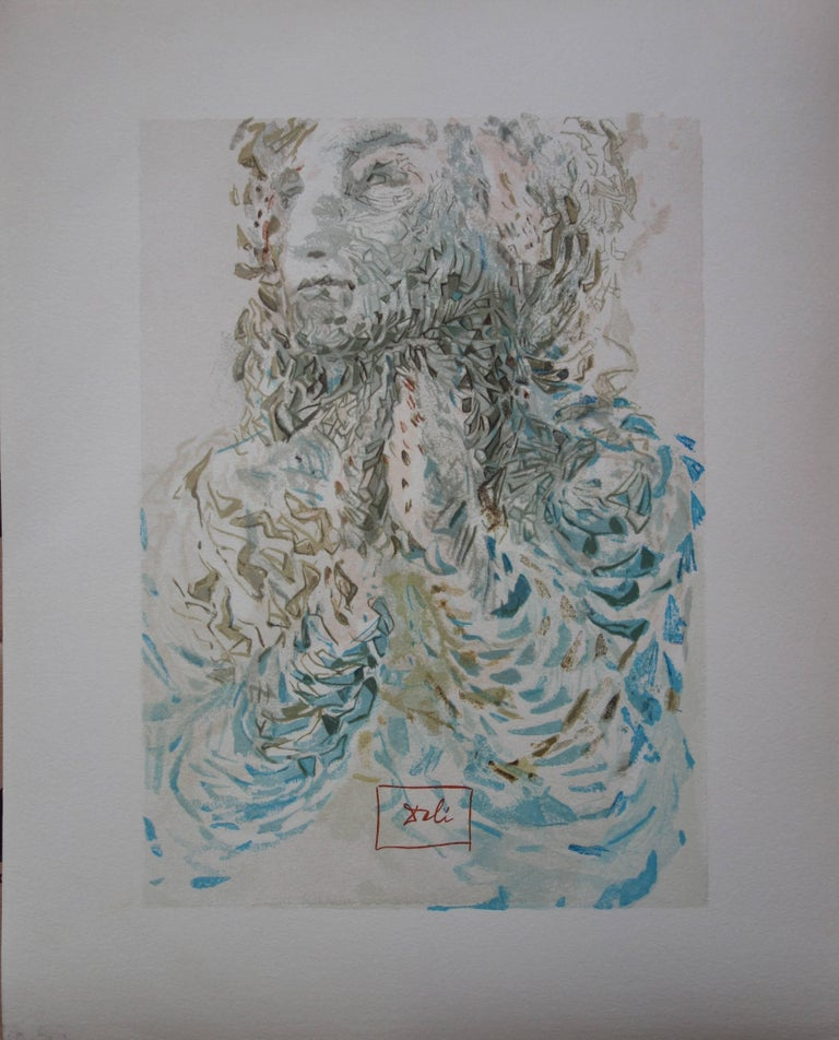 Salvador Dalí Figurative Print - Heaven 17 : Divine Fore Knowledge - Woodcut - 1963