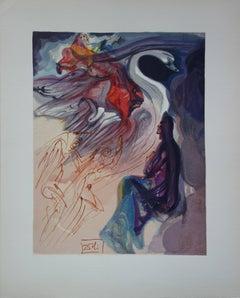 Heaven 19 - The Speech of the Bird - woodcut - 1963