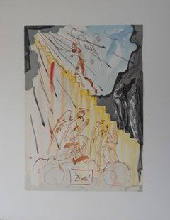 Heaven 21 : The Mystic Ladder - Color Woodcut - 1963
