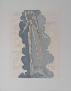 Heaven 22 - The Angel of the 7th Heaven - woodcut - 1963