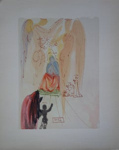 Heaven 23 - The Triumph of Christ and the Virgin - woodcut - 1963