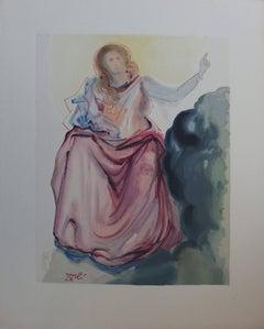 Heaven 4 - Beatrice - Color woodcut - 1963