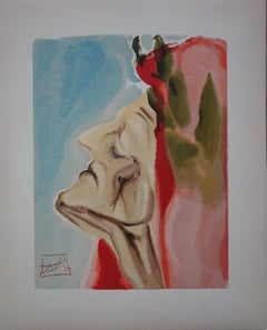 Heaven 7 - Dante's New Doubt - Woodcut - 1963