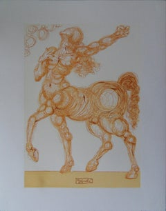Hell 25 - The Centaur -  Woodcut - 1963