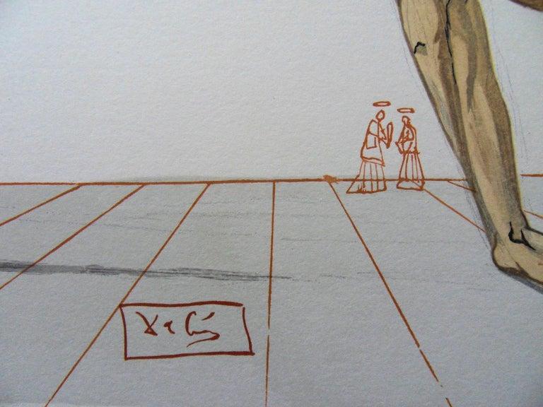 Hell 28 - Bertran de Born - Color woodcut - 1963 - Print by Salvador Dalí