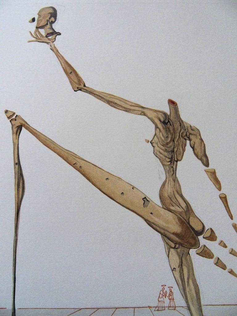 Hell 28 - Bertran de Born - Color woodcut - 1963 - Surrealist Print by Salvador Dalí