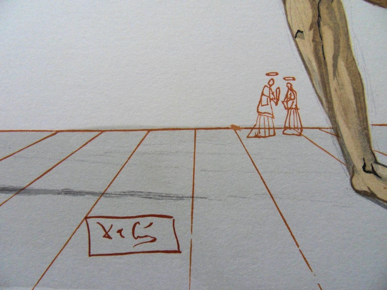 Hell 28 - Bertrand de Horn - woodcut - 1963 - Print by Salvador Dalí
