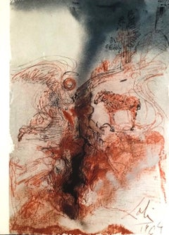 Hircus caprarum super faciem terræ - Original Lithograph by S. Dalì - 1964