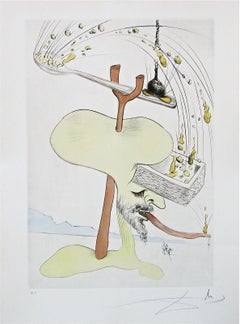 Hommage à Quevedo, Limited Edition Engraving, Salvador Dali- FULLY AUTHENTICATED