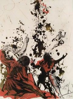 Iesu Transfiguratio - Original Lithograph by S. Dalì - 1964