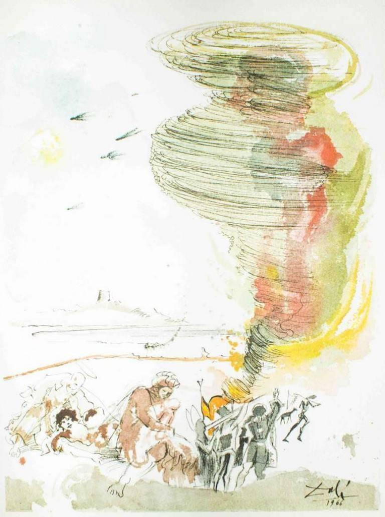 """Salvador Dalí Abstract Print - Illustration from """"Pater Noster"""" - Original Lithograph 1966"""