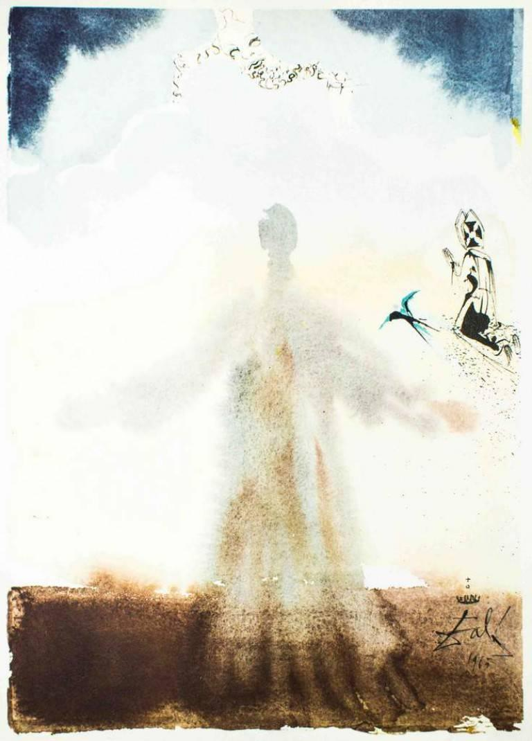 """Salvador Dalí Abstract Print - Illustration from """"Pater Noster"""" - Original Lithograph by Salvador Dalì - 1966"""