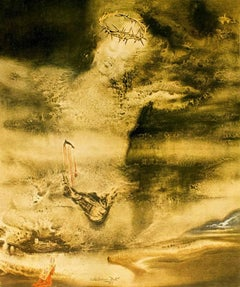 """Illustration from """"Pater Noster"""" - Original Lithograph by Salvador Dali - 1966"""