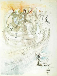 "Illustration from ""Pater Noster"" - Original Lithograph by Salvador Dali - 1966"