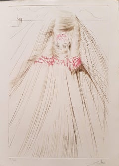 """Plate from """"Tristan and Isolde"""": The Queen with a Silk Tunic"""