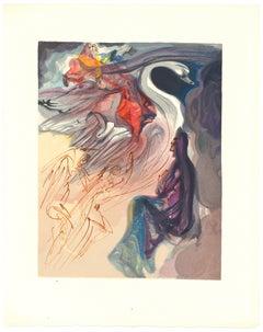 In the Heaven of Jupiter - Original Woodcut by Salvador Dalì - 1963