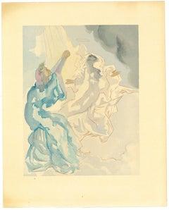 In the Heaven of Mercury - Original Woodcut by Salvador Dalì - 1963