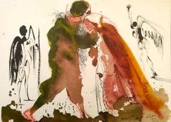 Ipse coniungat vos - Original Lithograph by S. Dalì - 1964