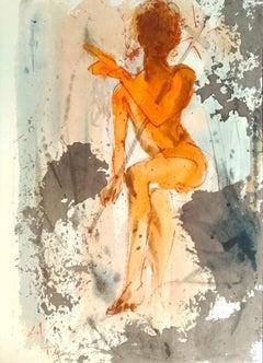 Ipse erat Elias - Original Lithograph by S. Dalì - 1964