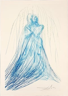 Isolde and Branguine - Original Etching and Drypoint by S. Dalì - 1969