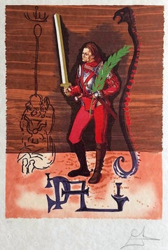 JACK OF SWORDS: Christopher Columbus Discovers America Lithograph on Japon Paper