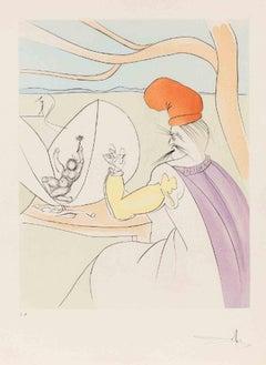 Japanese Fairy Tales - Original Print by Salvador Dalì - 1974