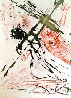Jesus Carrying the Cross - Original Lithograph by Salvador Dalì - 1965