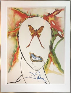 Kabuki Dancer, Surrealist Lithograph by Salvador Dali