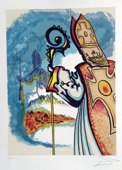 King Richard, Ivanhoe Suite 1977, Signed Lithograph on Arches