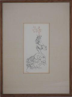 La Dame de l'Orangerie - Original etching (Field #67-7)