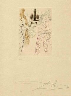 La Femme Adultère - Original Etching by Salvador Dalì - 1972