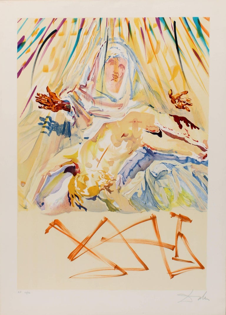 Salvador Dalí - La Pieta Nera (Black Madonna), Print For Sale at 1stdibs
