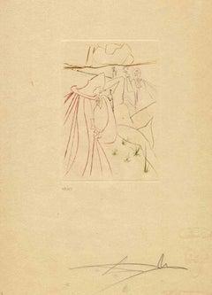 La Resussuscité - Original Etching by Salvador Dalì - 1972