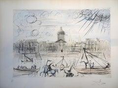 L'Académie de Paris - Salvador Dali - Aquatint - Surrealist