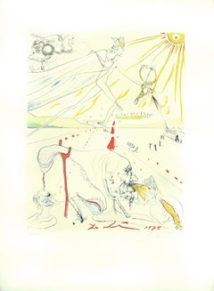 L'Alchimie - Original Etching and Drypoint by Salvador Dalì - 1975