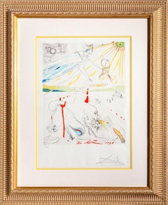 L'Alchimiste Hand-Colored Etching by Salvador Dalí 1975