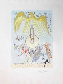 L'Ampoule à incandescence (The Electric Light Bulb), Hand-signed lithograph in c
