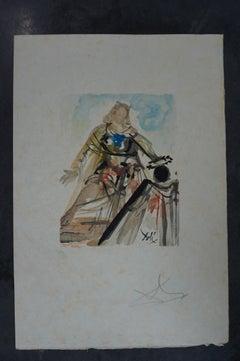 """On voit cette reine from """"L'Art d'aimer d'Ovide"""" artist's proof on Japon nacré"""