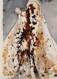 Lazare, Veni Foras - Original Lithograph by S. Dalì - 1964