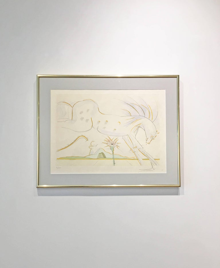 Le Cheval et le Loup (The Horse and the Wolf) - Print by Salvador Dalí