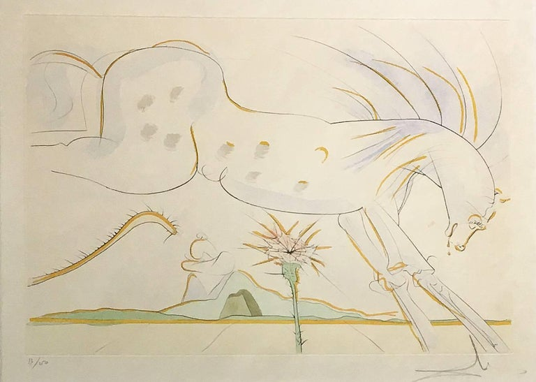 Salvador Dalí Animal Print - Le Cheval et le Loup (The Horse and the Wolf)
