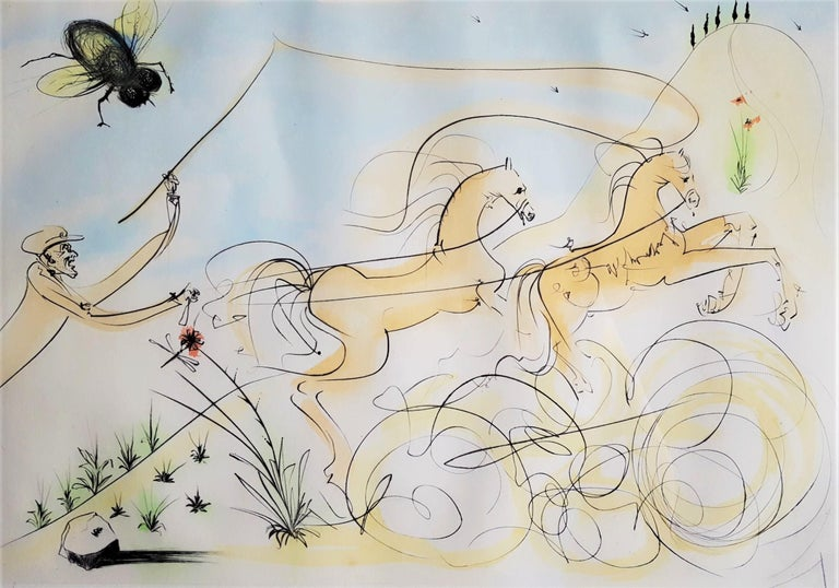Salvador Dalí Animal Print - Le Coche et le Mouche (The coach and the fly)