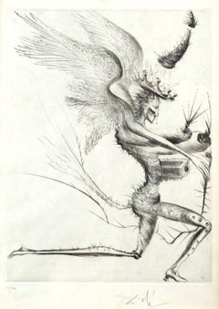 Le demon Ailé - Original Etching and Drypoint by S. Dali - 1969