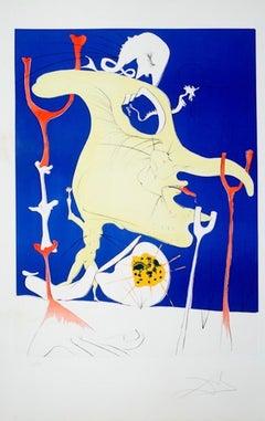 Le Dernier Venue de la Derniere Planete, Hand--signed limited edition lithograph